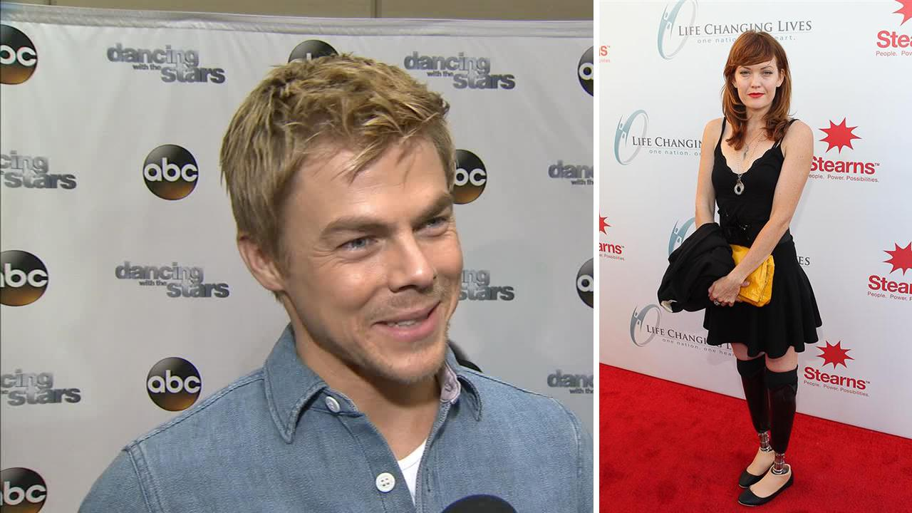 Dancing With The Stars pro dancer Derek Hough talks to OTRC.com on March 4, 2014, ahead of the Spring 2014 premiere of the ABC show. / His partner, Amy Purdy, attends the Life Changing Lives Benefit honoring Mohammad Ali, on Sept. 11, 2011. <span class=meta>(Erik Jordan &#47; startraksphoto.com)</span>