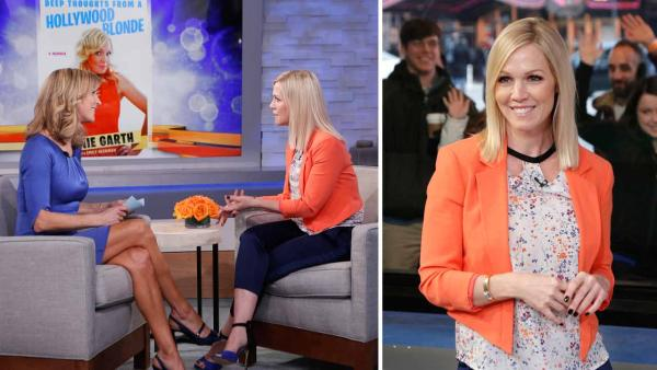 Jennie Garth appears on Good Morning America  on March 5, 2014 to promote her new memoir Deep Thoughts From a Hollywood Blonde. - Provided courtesy of ABC / Heidi Gutman