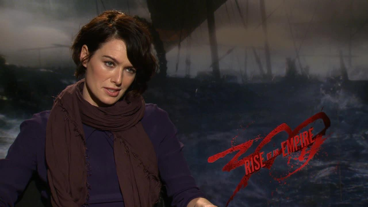 Lena Headey, best known for her role as Cersei Lannister on the HBO show Game Of Thrones, talks to OTRC.com in a March 2014 interview to promote the movie 300 Rise Of An Empire, in which she reprises her role as Queen Gorgo.
