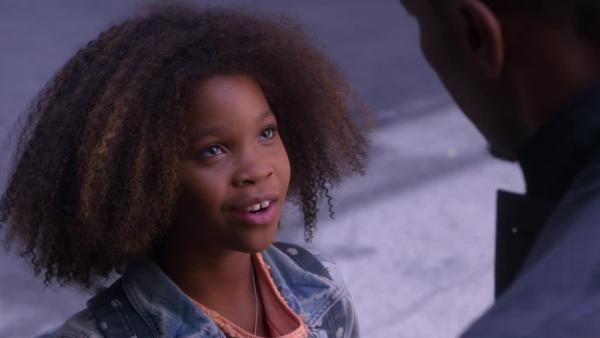 Quvenzhane Wallis appears as Annie in a scene from the 2014 holiday movie Annie, a remake of the hit Broadway musical and 1982 film. - Provided courtesy of OTRC