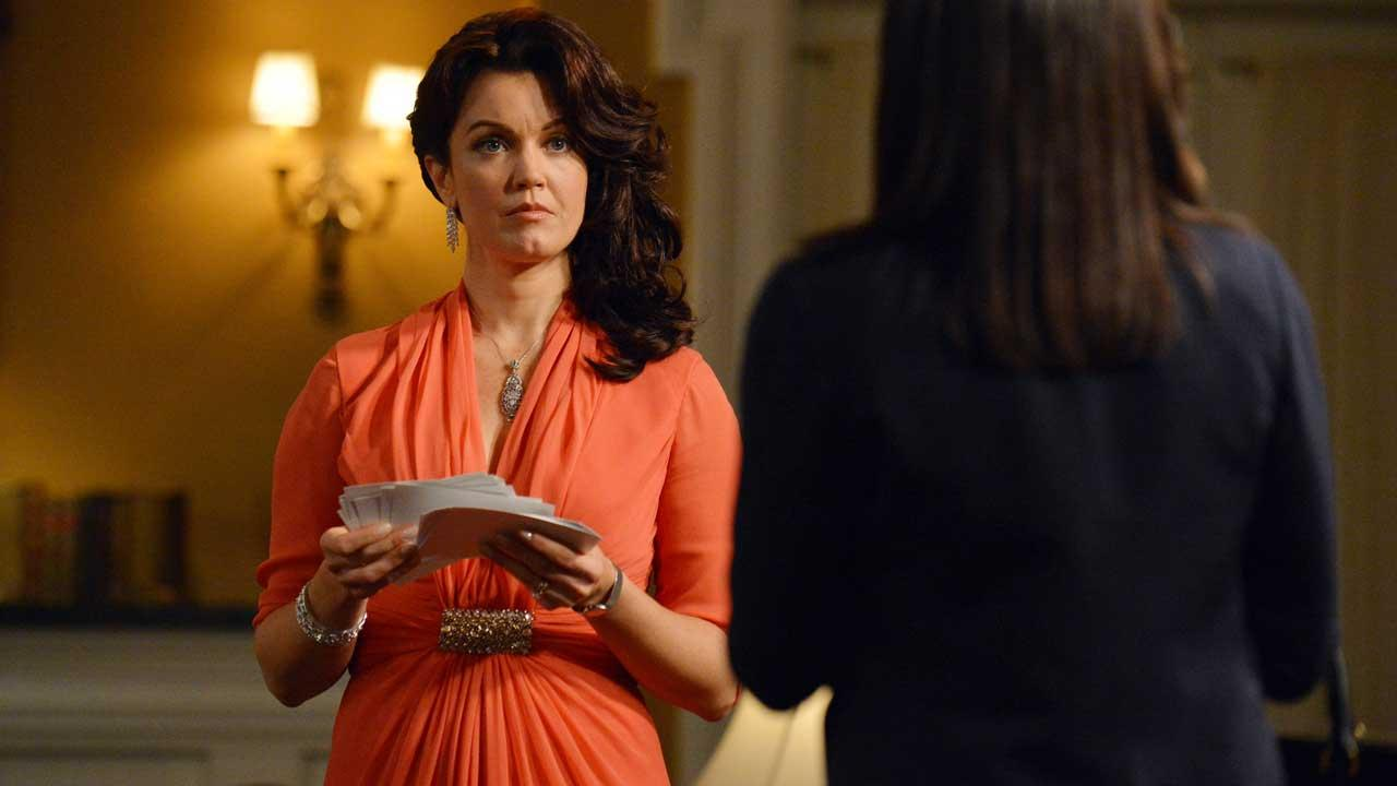 Bellamy Young appears as Mellie Grant in the season 3 episode of Scandal titled We Do Not Touch the First Ladies The episode aired on March 6, 2014.