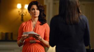 Bellamy Young appears as Mellie Grant in the season 3 episode of Scandal titled We Do Not Touch the First Ladies The episode aired on March 6, 2014. - Provided courtesy of ABC / Eric McCandless