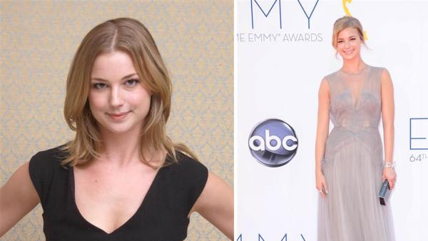 Emily VanCamp of ABCs Revenge appears at a press conference for ABCs Revenge at the Four Seasons hotel in Los Angeles on Oct. 28, 2013. / Emily VanCamp appears at the 2012 Primetime Emmy Awards in Los Angeles on Sept. 23, 2012. - Provided courtesy of Munawar Hosain / Kyle Rover / Startraksphoto.com