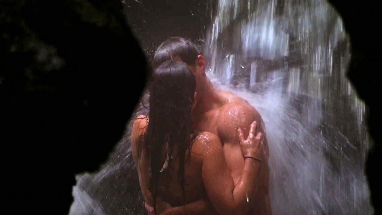 On ABCs The Bachelor, Juan Pablo Galavis and Andi get cozy under a waterfall in New Zealand (Feb. 10, 2014 episode)