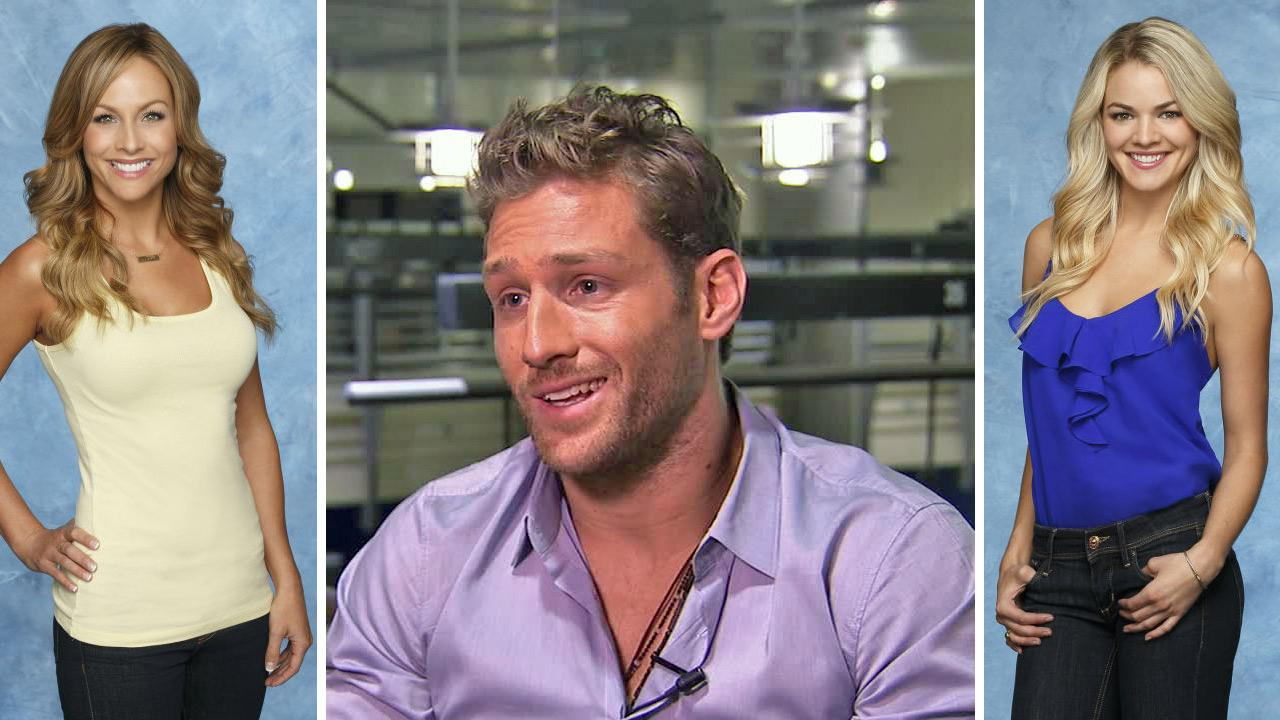 Juan Pablo Galavis appears in an interview with OTRC.com on Jan. 7, 2014. / The Bachelor season 18 finalists Clare and Nikki appear in publicity photos. The finale airs on March 10 at 8 p.m. ET.