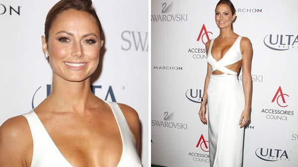 Stacy Keibler appears at 17th annual Accessories Council Excellence Awards in New York City on Nov. 4, 2013. - Provided courtesy of Kristina Bumphrey / startraksphoto.com