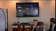 Justin Bieber appears in a video deposition on March 6, 2014, stemming from a civil assault case filed against him by a former bodyguard. - Provided courtesy of none / Miami Universal Court Reporting Office