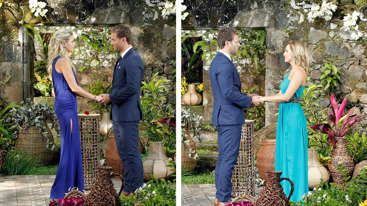 Star Juan Pablo Galavis appears with Nikki (left) and Clare in St. Lucia in a scene from the season 18 finale of ABCs The Bachelor, which aired on March 10, 2014. <span class=meta>(ABC Photo &#47; Rick Rowell)</span>
