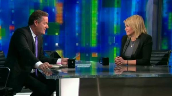 Chelsea Handler appears in a March 2014 episode of CNNs Piers Morgan Live. - Provided courtesy of CNN