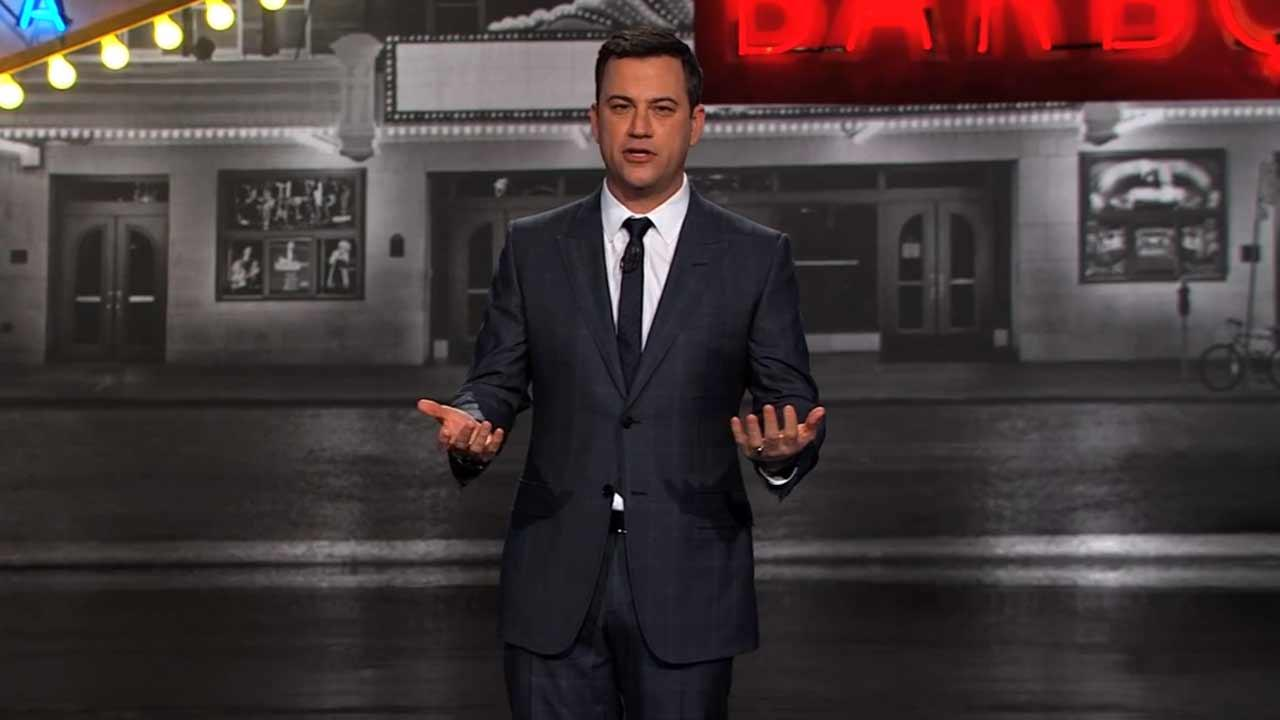 Jimmy Kimmel appears in Austin, Texas for a special taping of Jimmy Kimmel Live, in March 2014, where he pokes fun at Bachelor contestant Juan Pablo Galavis.