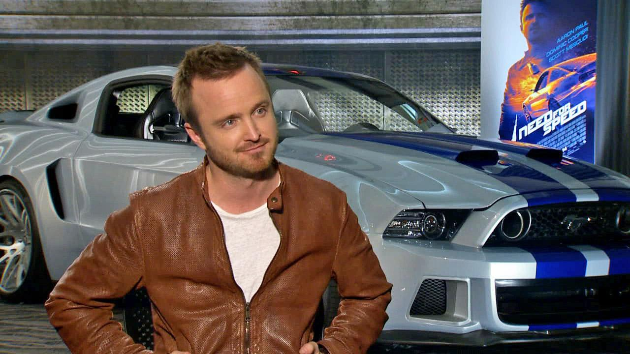 Aaron Paul appears in an interview with OTRC.com for Need for Speed on March 4, 2014.
