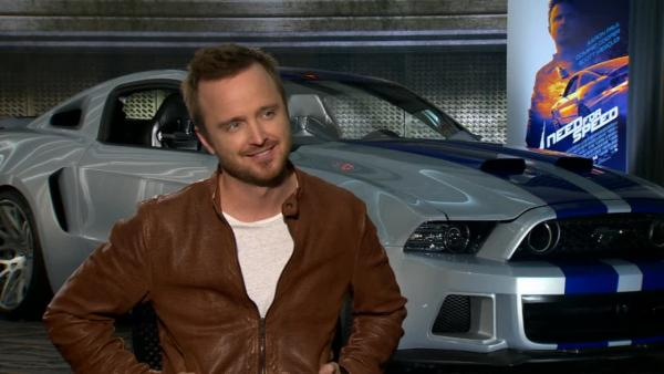 Star Aaron Paul revs his engine and his nerves in the high-octane racing-revenge flick Need for Speed