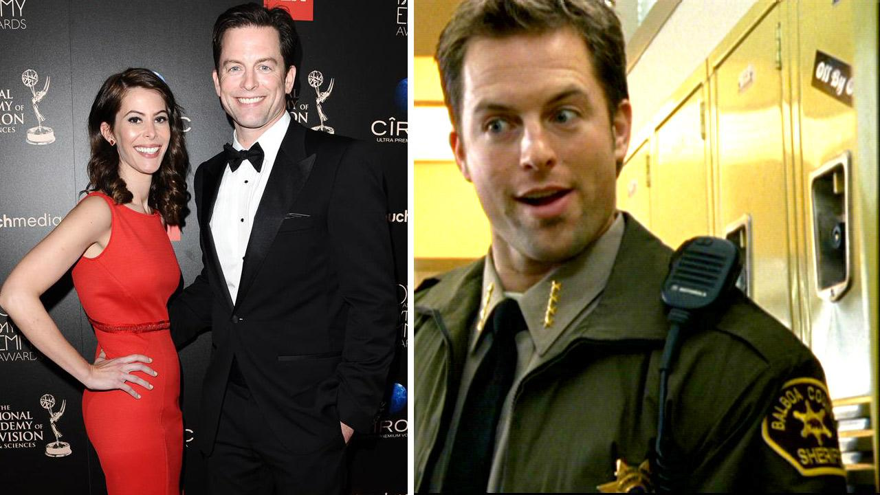 Michael Muhney and wife Jamie Muhney appear at the 2013 Daytime Emmy Awards in Beverly Hills, California on March 16, 2013. / Michael Muhney appears as Sheriff Don Lamb in a scene from season 1 of the TV show Veronica Mars that aired in 2004.Sara De Boer / Startraksphoto.com / Rob Thomas Productions / Warner Bros. Television