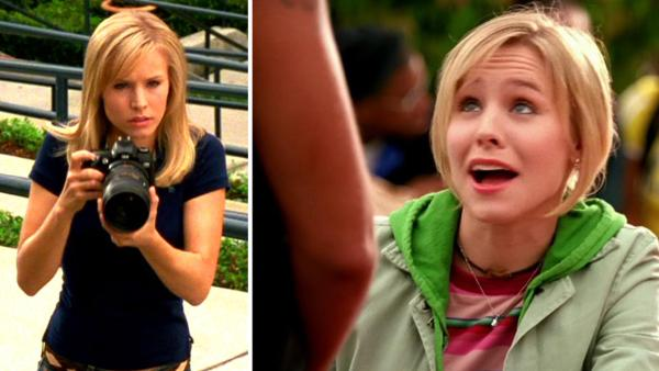 Kristen Bell appears as Veronica Mars in a scene from the pilot episode of Veronica Mars the TV show, which premiered in 2004. - Provided courtesy of Rob Thomas Productions / Warner Bros. Television