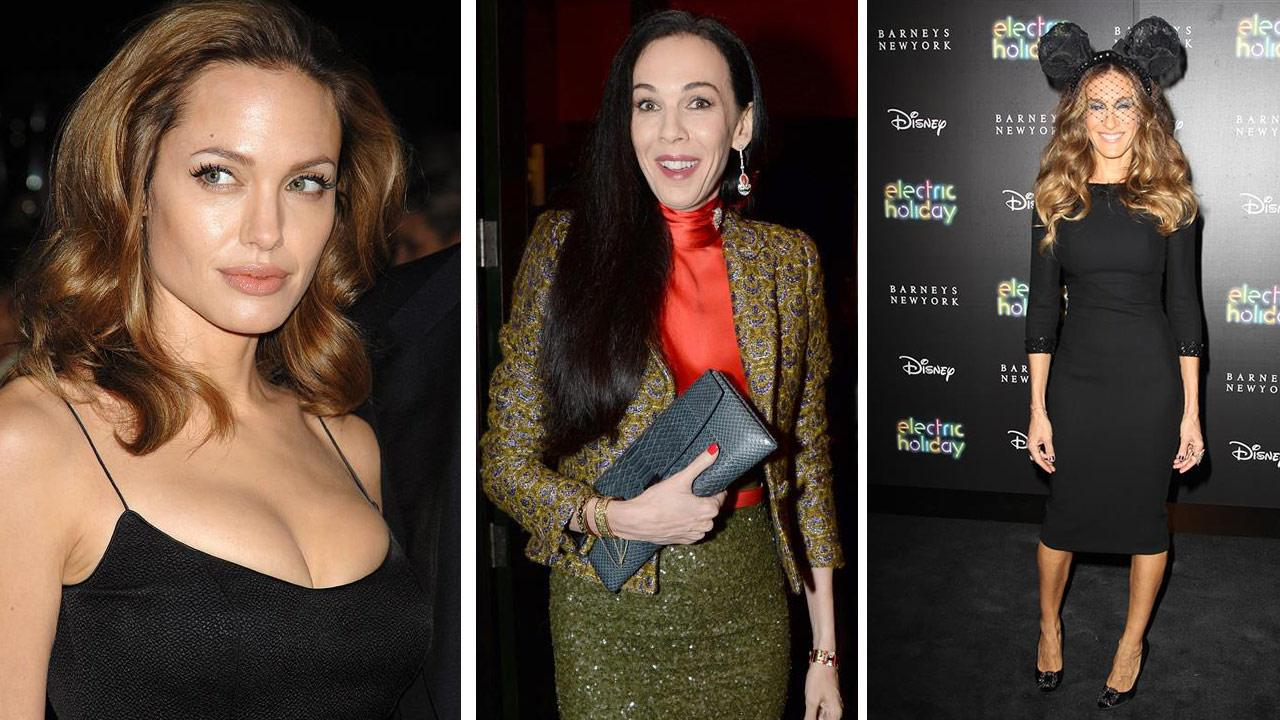 Angelina Jolie attends the Assassination of Jesse James premiere on Sept. 18, 2007. / LWren Scott appears at London fashion week on Sept. 9, 2013. Sarah Jessica Parker attends the opening night of Eve Enslers Emotional Creature on Nov. 14, 2012. <span class=meta>(Bill Davila &#47; Richard Young &#47; Rex &#47; Kristina Bumphrey &#47; Startraksphoto.com)</span>