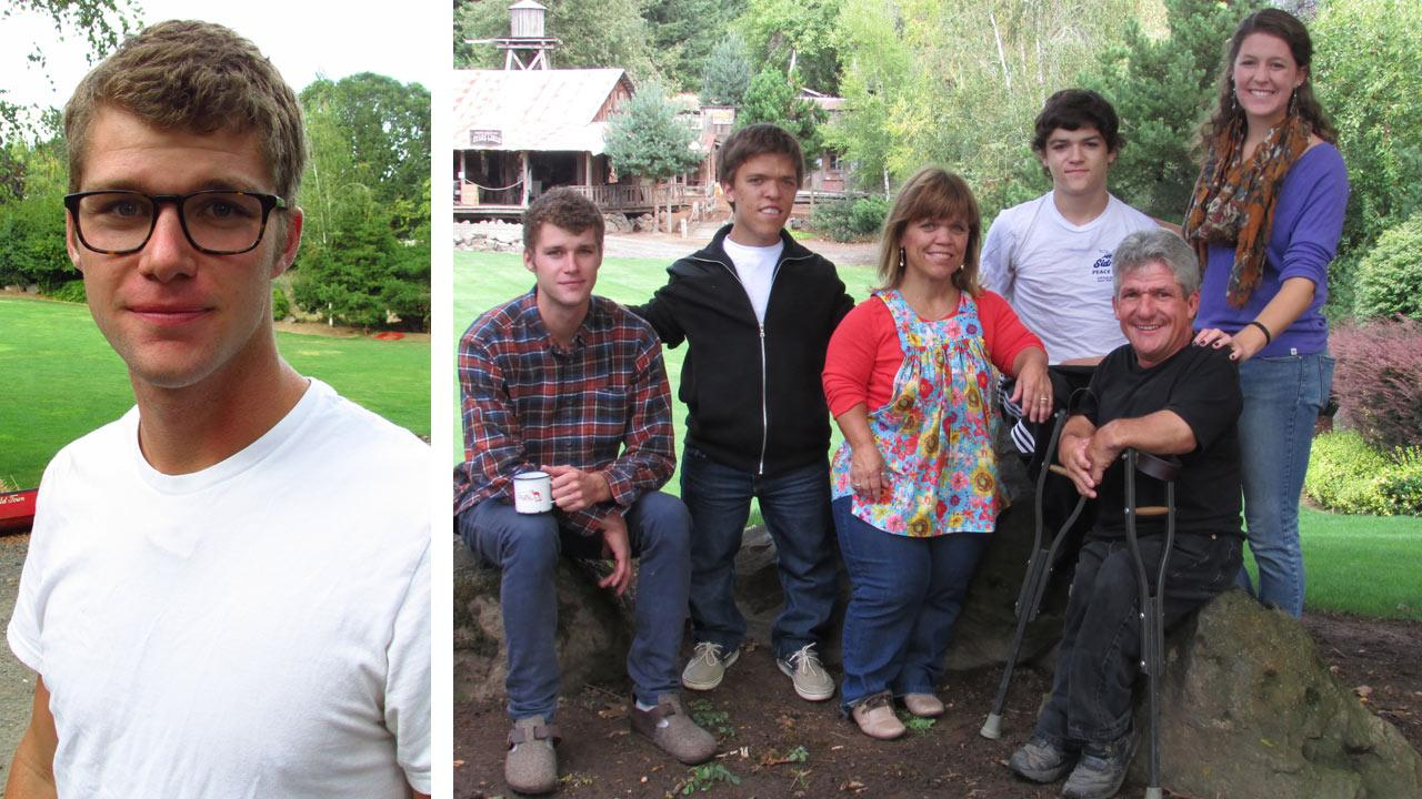 Jeremy Roloff appears in a promotional photo for Little People, Big World in October 2013. / Jeremy, Zach, Amy, Jacob, Matt and Molly Roloff appear in a promotional photo for Little People, Big World in October 2013.