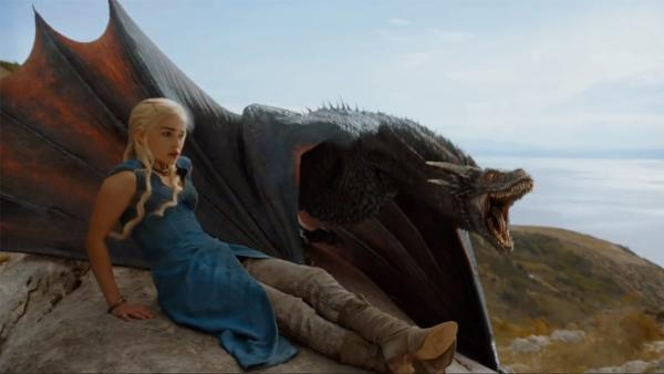 Emilia Clarke appears as Daenerys Targaryen in a scene from season 4 of the HBO series Game of Thrones. - Provided courtesy of HBO
