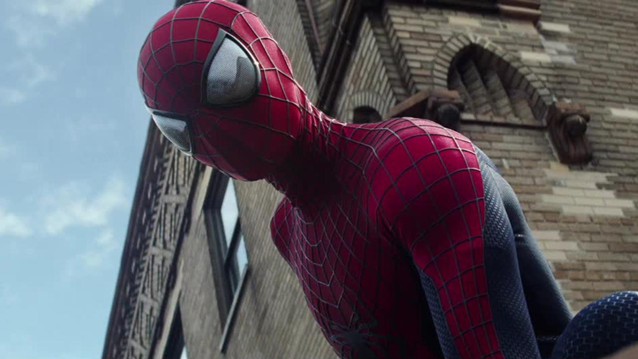 Peter Parker (Andrew Garfield) appears in a scene from the 2014 movie The Amazing Spider-Man 2.