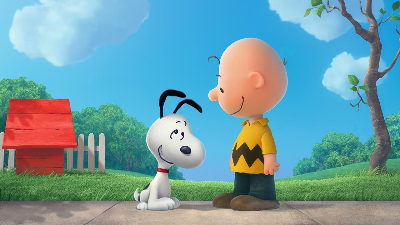 Snoopy and Charlie Brown appears in a scene from the teaser trailer for the 2015 movie Peanuts.