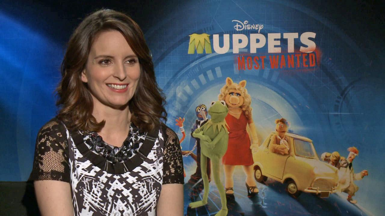 Tina Fey appears in an interview with OTRC.com for Muppets Most Wanted on March 8, 2014.