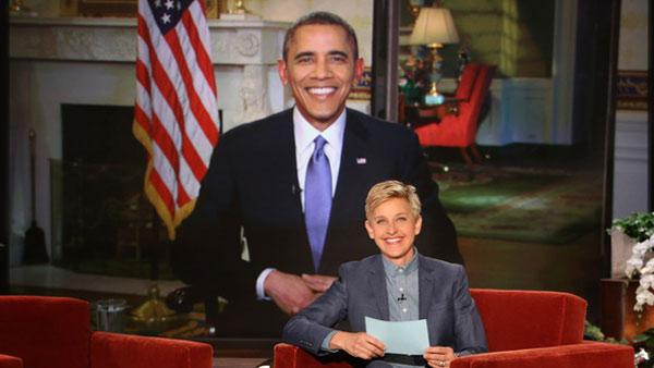 President Barack Obama appears on The Ellen DeGeneres Show on March 20, 2014. - Provided courtesy of Warner Bros. Television
