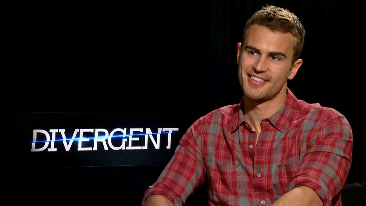 Theo James talked to OTRC.com about Divergent, in theaters on March 21, 2014.