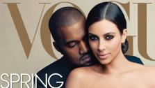 Kim Kardashian and Kanye West appear on the cover of Vogues April 2014 issue. - Provided courtesy of VOGUE/Annie Leibovitz