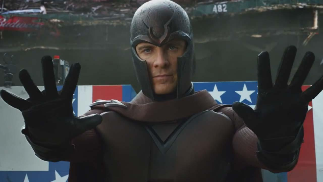 Michael Fassbender appears in a trailer for the 2014 film X-Men: Days of Future Past.