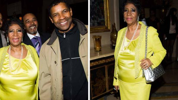 Aretha Franklin appears at her 72nd birthday celebration on Sunday, March 23, 2014 in New York City. - Provided courtesy of AP / Charles Sykes / Invision / AP