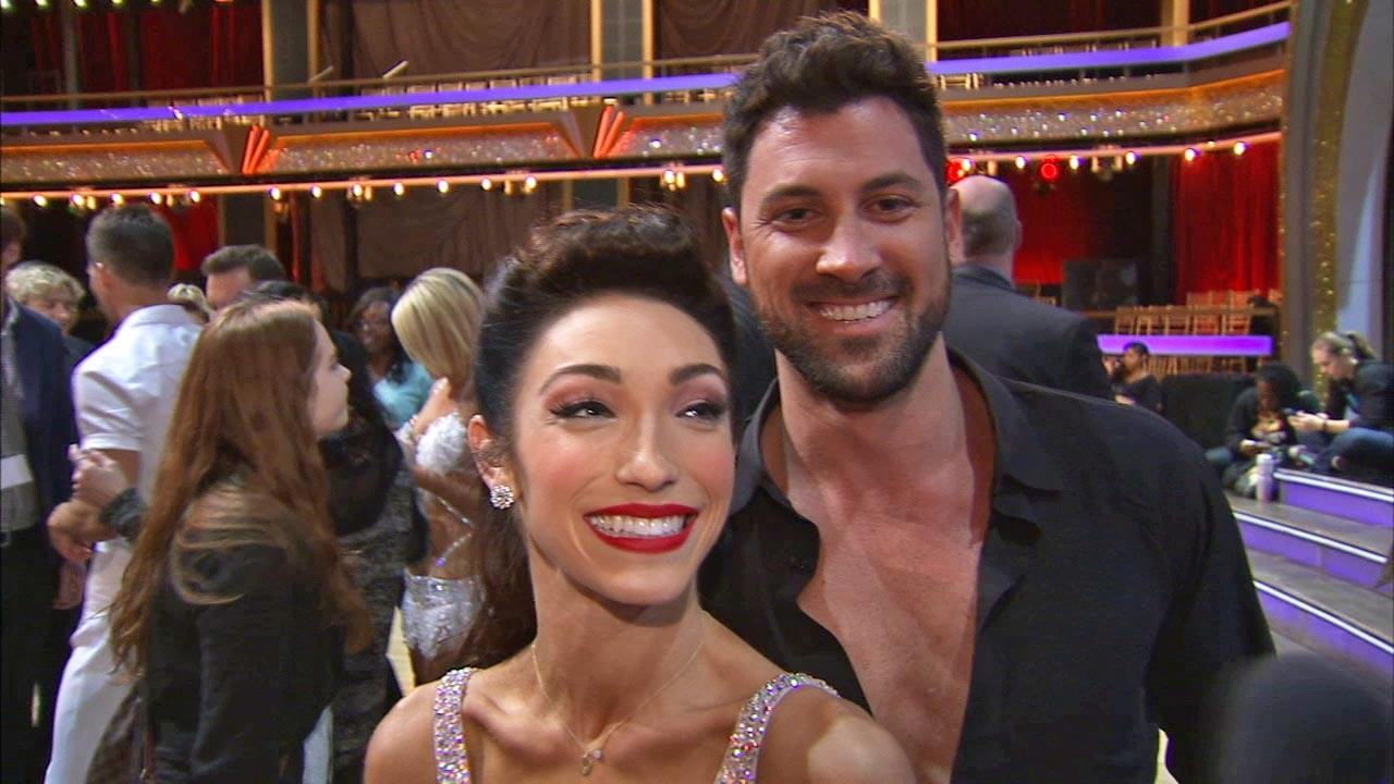 Meryl Davis and Maksim Chmerkovskiy talk to OTRC.com after week 2 on Dancing With The Stars season 18 on March 24, 2014.