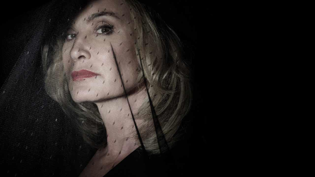 Jessica Lange appears in a 2013 promotional photo for American Horror Story: Coven.
