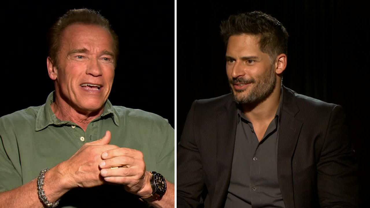 Arnold Schwarzenegger and Joe Manganiello talk to OTRC.com about the film Sabotage in March 2014.