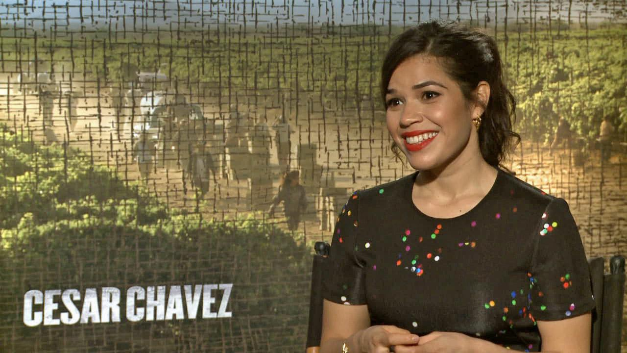 America Ferrera appears in an interview with OTRC.com for Cesar Chavez on March 6, 2014.