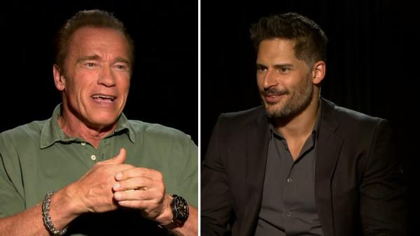 Arnold Schwarzenegger and Joe Manganiello talk to OTRC.com about the film 'Sabotage' in March 2014.