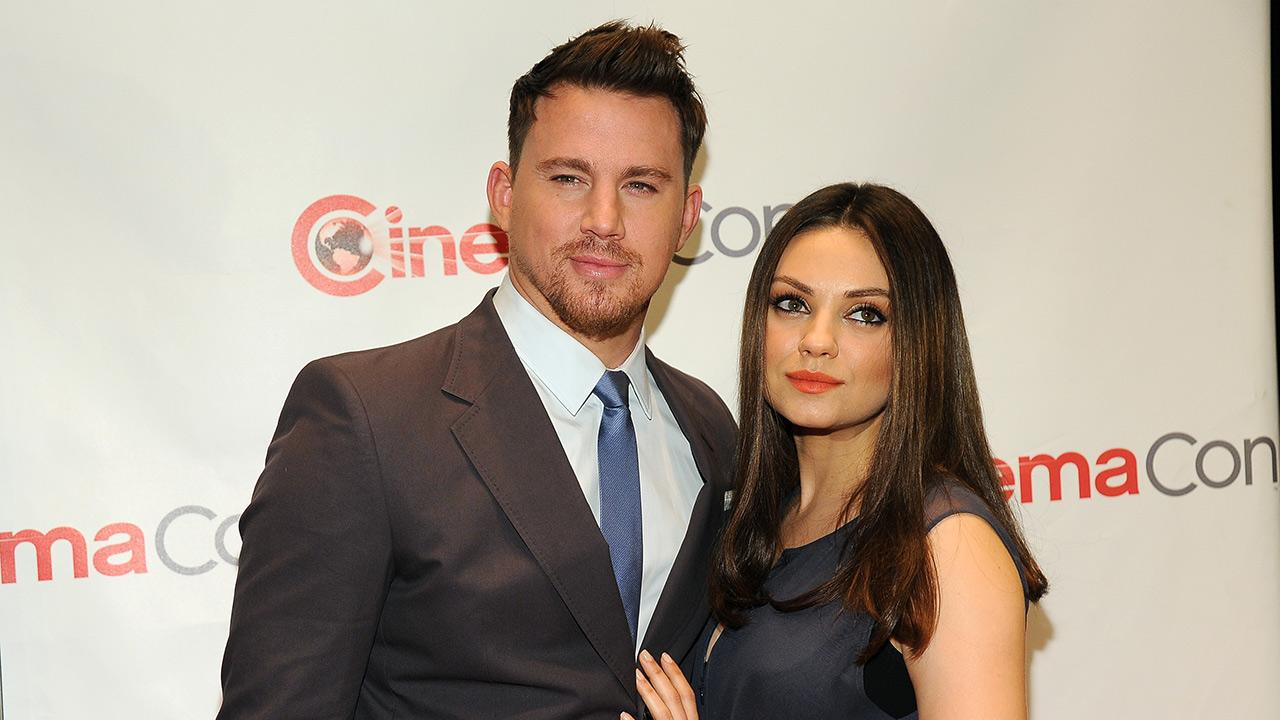 Jupiter Ascending stars Channing Tatum and Mila Kunis, who is reportedly pregnant with her and Ashton Kutchers first child, appear at the Warner Bros: The Big Picture 2014 presentation at Cinemacon in Las Vegas on Thursday, March 27, 2014.