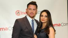 Jupiter Ascending stars Channing Tatum and Mila Kunis, who is reportedly pregnant with her and Ashton Kutchers first child, appear at the Warner Bros: The Big Picture 2014 presentation at Cinemacon in Las Vegas on Thursday, March 27, 2014. - Provided courtesy of Chris Pizzello / Invision / AP