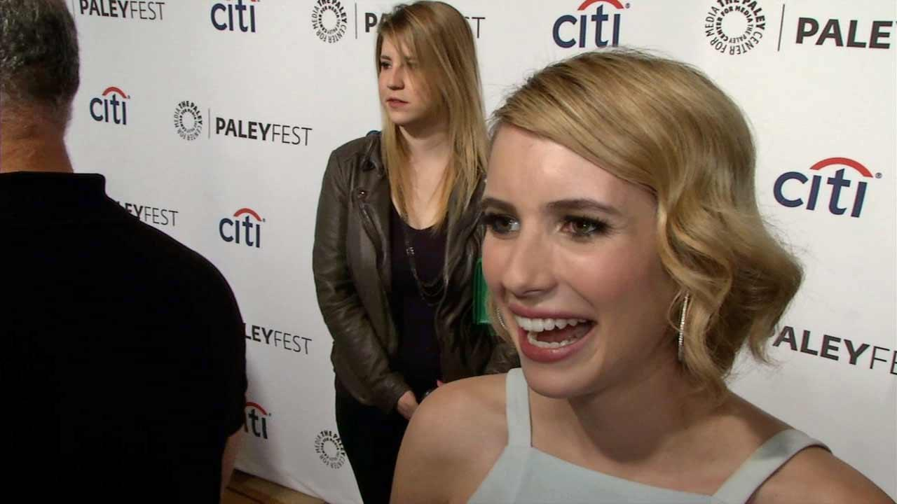Emma Roberts appears at a PaleyFest event celebrating American Horror Story at the Dolby Theatre in Hollywood on Friday, March 28, 2014.
