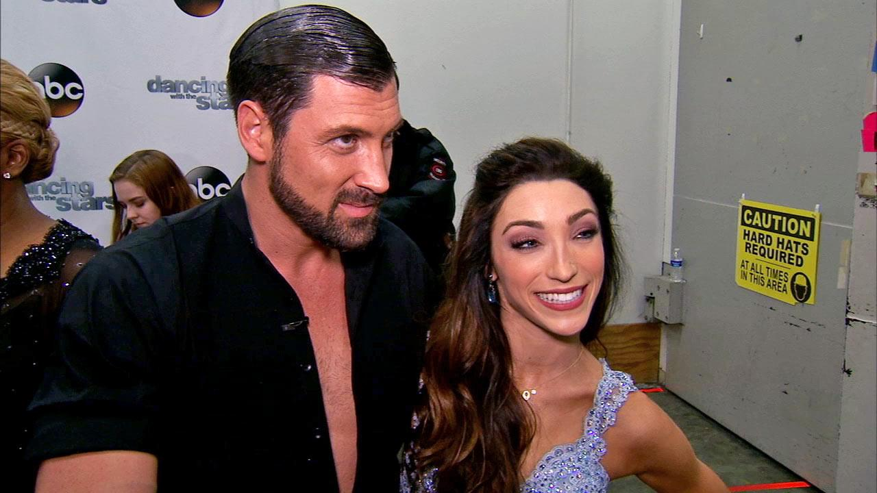 Meryl Davis and Maksim Chmerkovskiy talk to OTRC.com after week 3 on Dancing With The Stars season 18 on March 31, 2014.