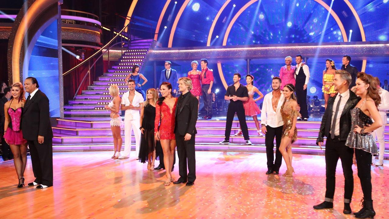 The cast of Dancing With The Stars season 18 appears on the premiere on March 24, 2014.