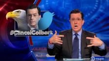 Stephen Colbert appears on the Comedy Central series The Colbert Report on March 31, 2014 to address the CancelColbert controversy. On the episode, he said he is not a racist and made jokes referencing Hitler and Jesus. - Provided courtesy of Comedy Central / Viacom