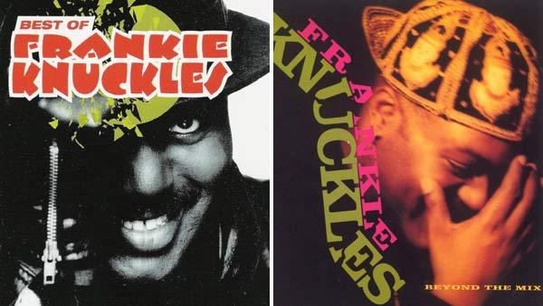 Frankie Knuckles appears on the covers of the albums 'Best of Frankie Knuckles' and 'Beyond the Mix.'