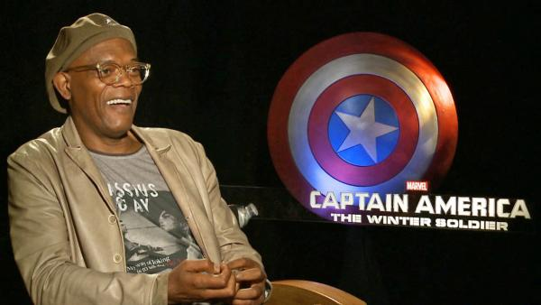 Samuel L. Jackson appears in an interview with OTRC.com for Captain America: The Winter Soldier on March 11, 2014. - Provided courtesy of OTRC