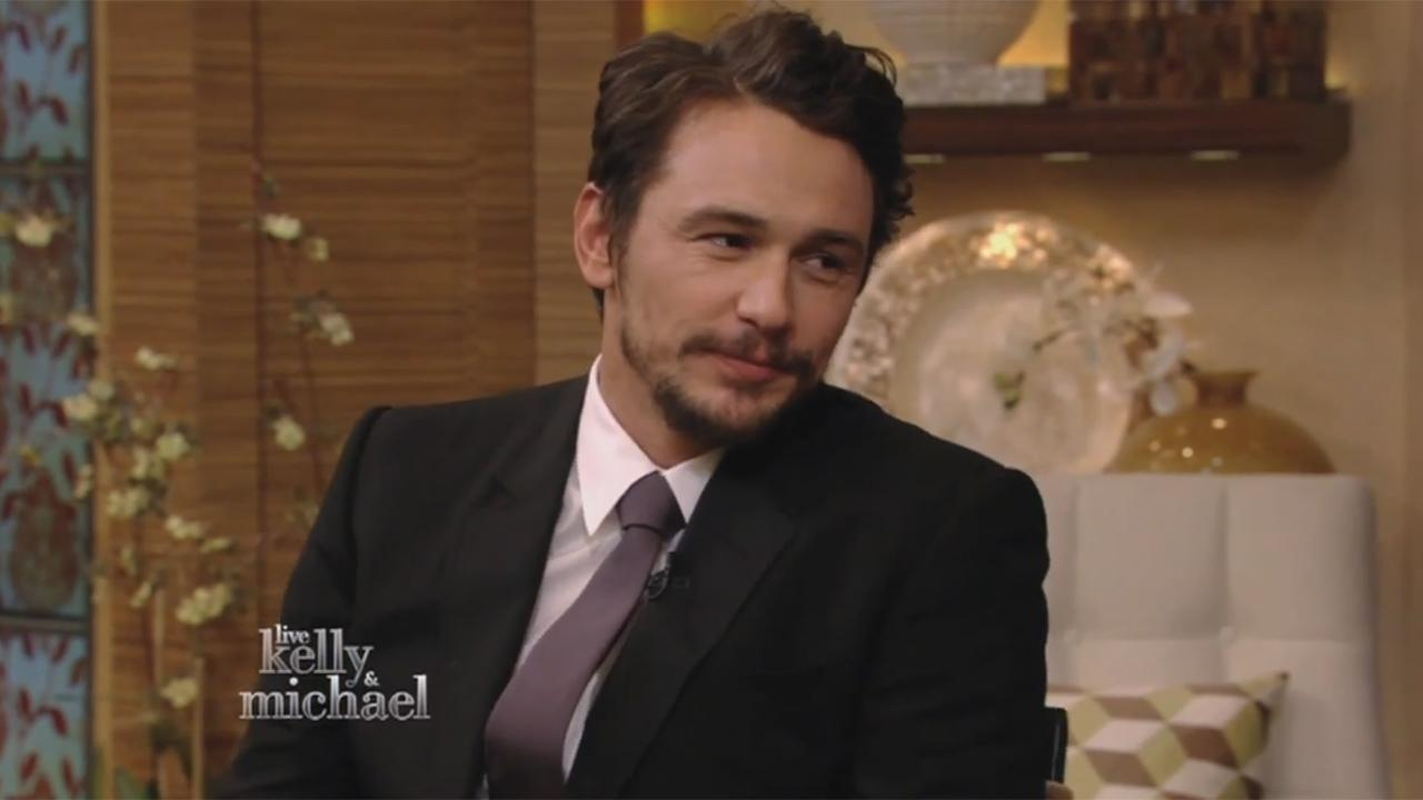 James Franco appears on LIVE with Kelly and Michael on April 4, 2014, and responds to a controversy in which a 17-year-old girl, Lucy Clode, posted an Instagram chat between the two that shows him flirting with her. He said he was embarrassed about it.