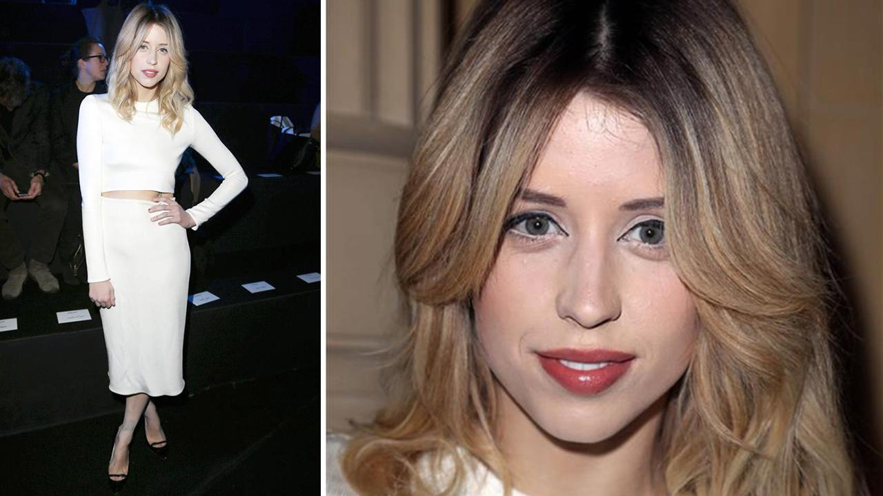 Peaches Geldof, a British model and TV presenter and daughter of Bob Geldof, died at age 25 on April 7, 2014. She is pictured here at the Etam Spring / Summer 2014 fashion show during Paris Fashion Week on Feb. 25, 2014.Aldo Verretti / Startraksphoto.com