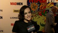 Elisabeth Moss, who plays Peggy Olson on Mad Men, talks to OTRC.com about the final season 7 at the premiere of the AMC show in Los