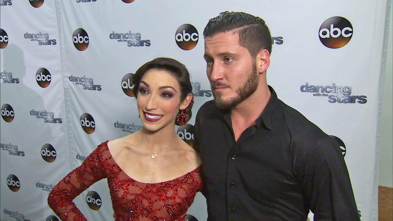 Meryl Davis and Valentin Chmerkovskiy talk to OTRC.com after week 4 on Dancing With The Stars season 18 on April 7, 2014.