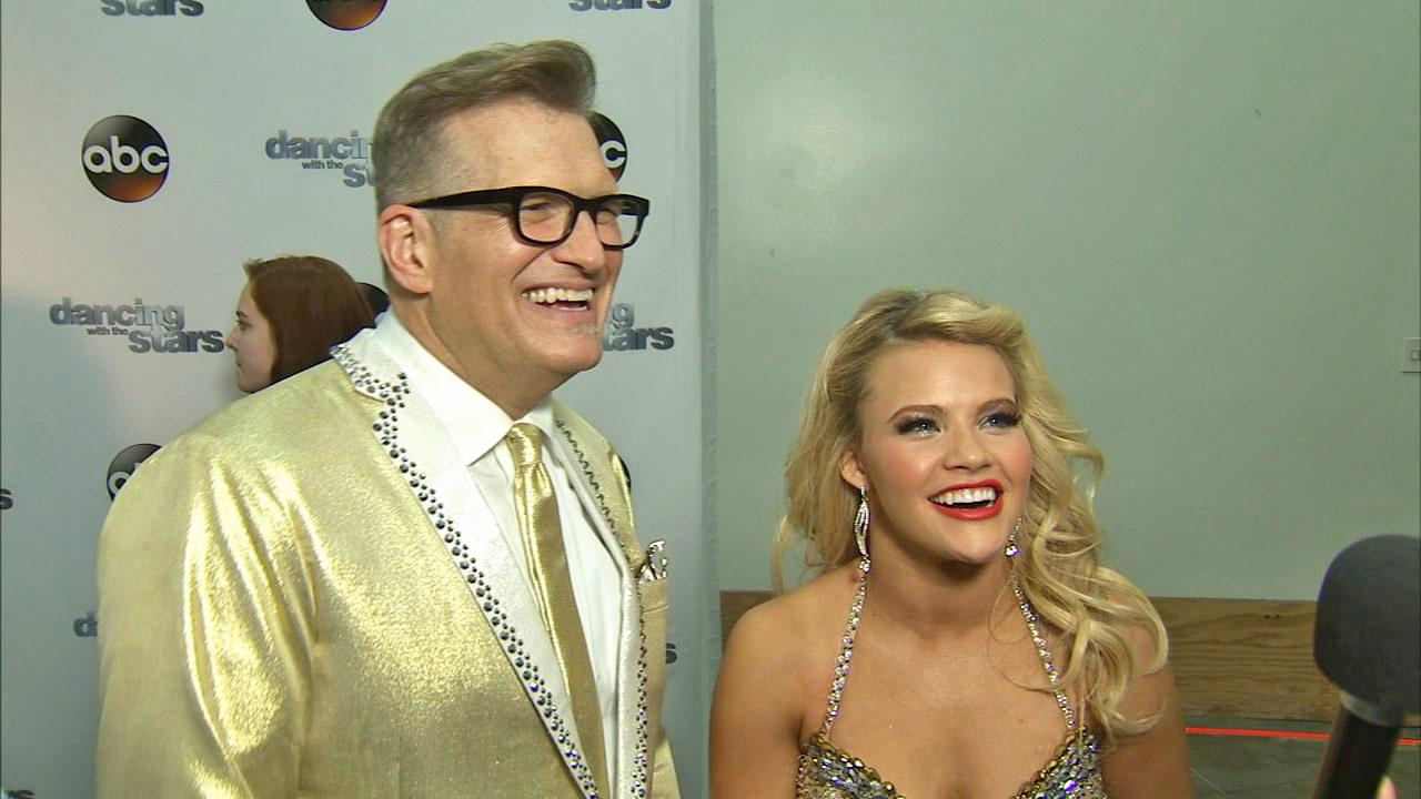 Drew Carey and Witney Carson talk to OTRC.com after week 4 on Dancing With The Stars season 18 on April 7, 2014.