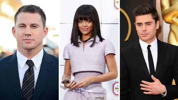 Channing Tatum, Rihanna and Zac Efron are among the celebrities appearing at the 2014 MTV Movie Awards, taking place on Sunday, April 13, 2014. - Provided courtesy of Nicolas Briquet / Abaca / Tim Sparrow / Kyle Rover / startraksphoto.com