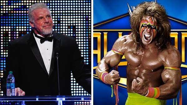 The Ultimate Warrior speaks during the WWE Hall of Fame Induction at the Smoothie King Center in New Orleans on Saturday, April 5, 2014. He died three days later, on April 8, WWE announced. / The Ultimate Warrior appears in a publicity photo.