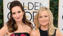 Tina Fey and Amy Poehler appear at the 71st Golden Globe Awards on Jan 12, 2014. - Provided courtesy of Sara De Boer/startraksphoto.com